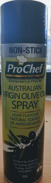 PRO CHEF, EXTRA VIRGIN OLIVE OIL SPRAY, 260G