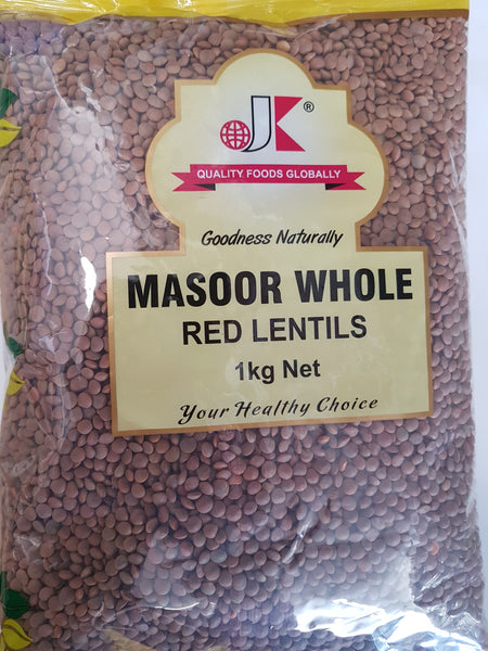 RED LENTILS Whole JK 1kg
