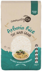 ARBORIO RICE, COMMUNITY CO., 1 KG