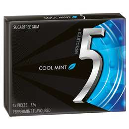 5 COOL MINT, SUGERFREE GUM,32G