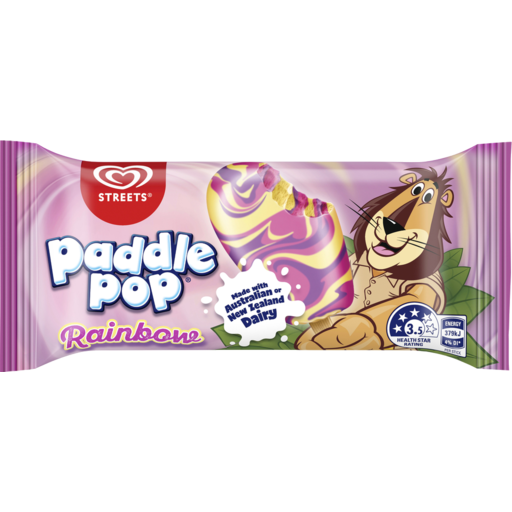 PADDLE POP RAINBOW ICE CREAM, 68G