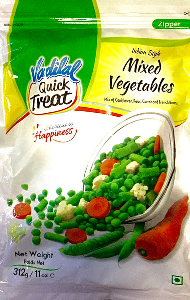 MIXED VEGETABLES, VADILAL, 312G