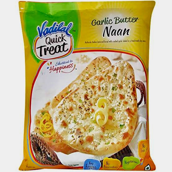 GARLIC BUTTER NAAN  VADILAL 10 PCS