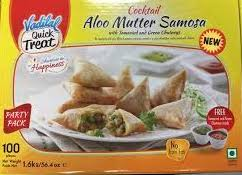 Aloo Mutter Cocktail Samosa, Vadilal 100pcs