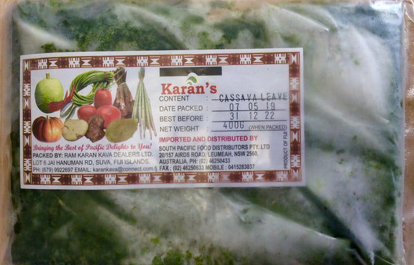 FROZEN CASSAVA LEAVES KARANS 400G