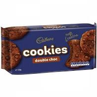 CADBURY COOKIES DOUBLE CHOC 156G
