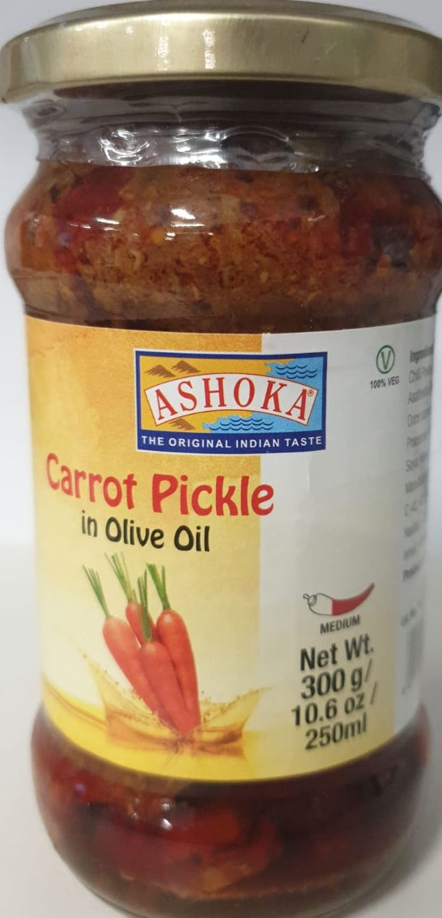 CARROT PICKLE IN OLIVE OIL, ASHOKA 300G