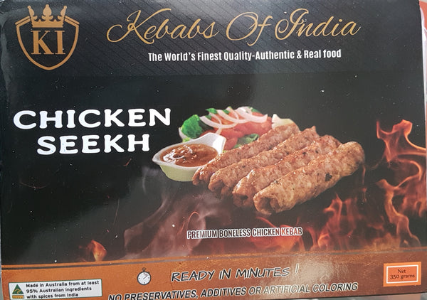 CHICKEN SEEKH KEBAB, KEBABS OF INDIA 350G