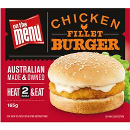 Chicken fillet burger, On the Menu 165g