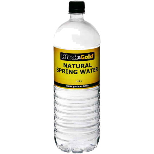 BLACK AND GOLD SPRING WATER 6 X 1.5 LITRE