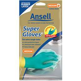 ANSELL SUPER GLOVES, MEDIUM