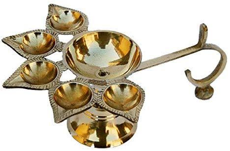 BRASS PANCH DIYA AARTI