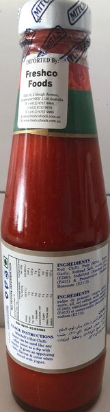 HOT CHILLI SAUCE MITCHELLS 285G