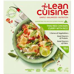 Thai Red chicken curry w/rice, 375g, Lean Cuisine