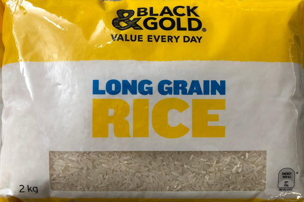 Long Grain White Rice, Black & Gold 2kg