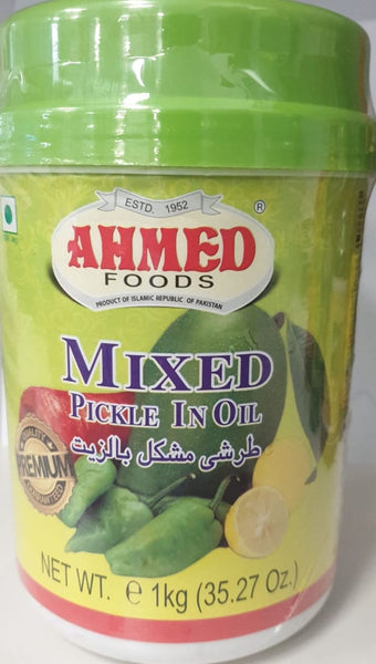 MIXED PICKLE IN OIL AHMED 1KG