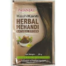 HERBAL MEHANDI  NAT BROWN 20G PATANJALI