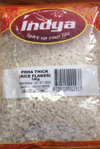 Poha ( Rice Flakes) Thick, Indya 1kg