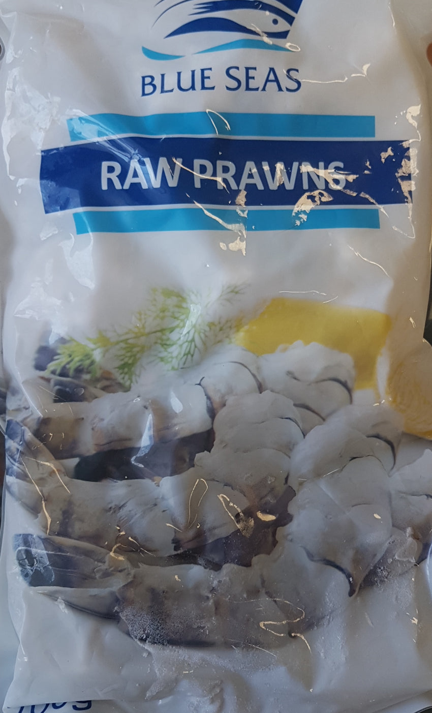 Raw Prawns Frozen, Blue Seas, 700g