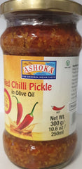 RED CHILLI PICKLE IN OLIVE OIL, ASHOKA 300G
