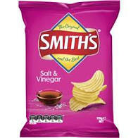 SMITHS SALT & VINEGAR 170G