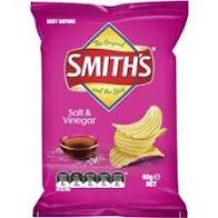 SMITH CHIPS SALT & VINEGAR 60g