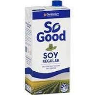 SOY MILK REGULAR (LONG LIFE), SO GOOD, 1 LITRE