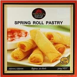 Spring roll pastry, Trangs, 300g ( 20 sheets)