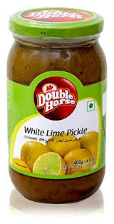 WHITE LIME PICKLE, DOUBLE HORSE 400G