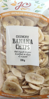 CRUNCHY BANANA CHIPS, JC, 280G