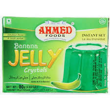 BANANA JELLY CRYSTALS, AHMED 80G
