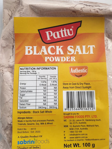 BLACK SALT POWDER PATTU 100G