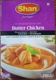 BUTTER CHICKEN MIX, SHAN, 50G