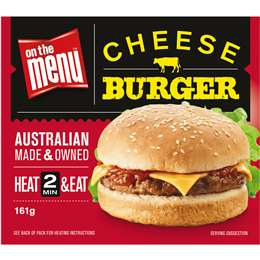 Cheese burger, On the Menu, 161g