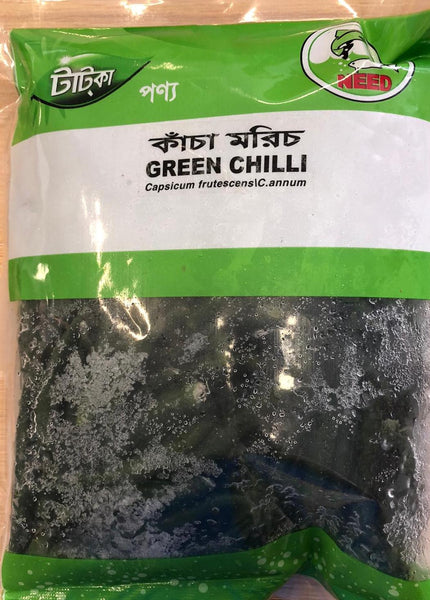 Frozen GREEN CHILLI, TATKA, 300G