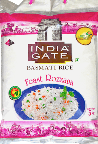 Basmati Rice, Feast Rozzana, India Gate, 5kg
