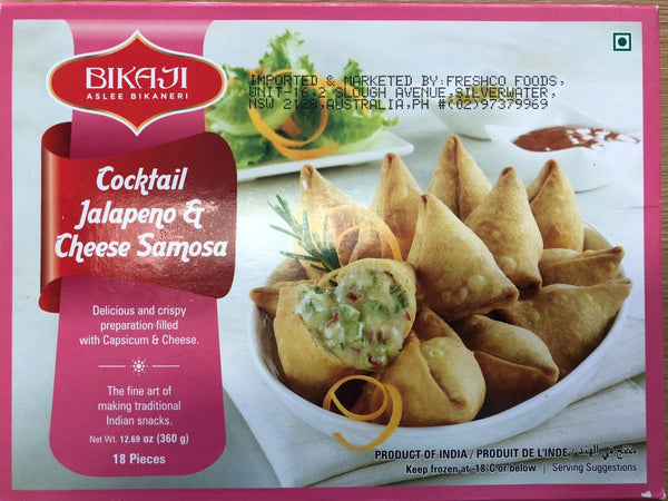 COCKTAIL JALAPENO CHEESE SAMOSA BIKAJI