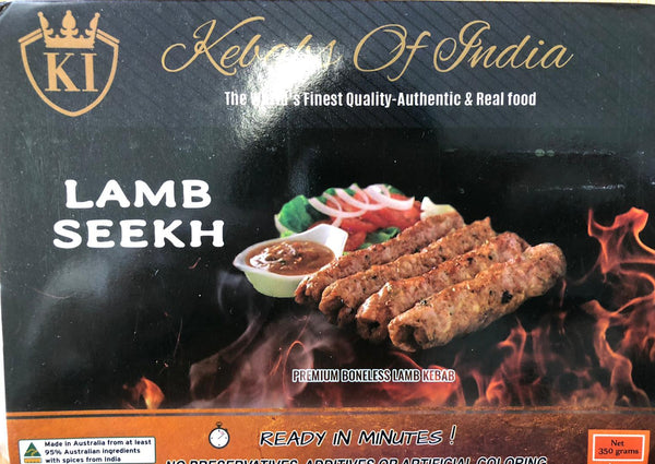 LAMB SEEKH KEBAB, KEBABS OF INDIA 350G