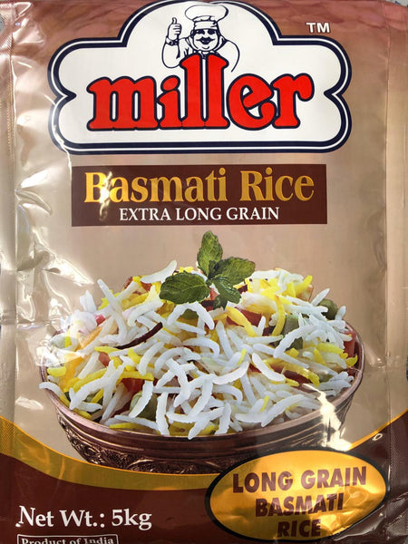 Basmati rice, Extra Long Grain, Miller 5kg