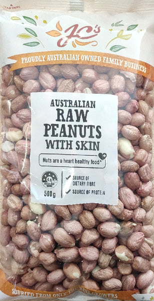 RAW PEANUTS W/S, JC, 500G