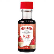 PILLAR BOX RED FOOD COLOR, QUEEN, 50ML