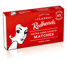 MATCHES REDHEADS, 45 matches