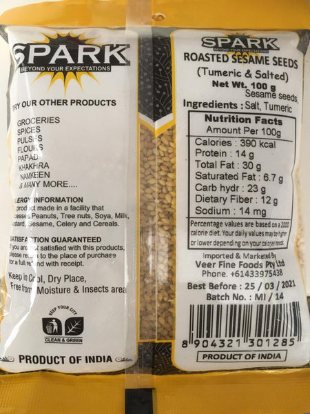 ROASTED SESAME SEEDS 100G SPARK