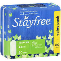 STAYFREE PADS REGULAR 20PK