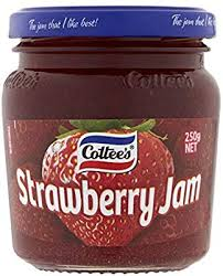 Strawberry Jam, Cottee's 250g