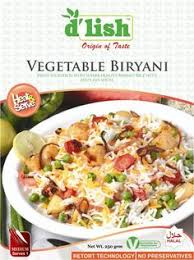 D'LISH VEGETABLE BIRYANI 275GRAM