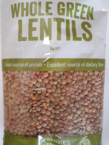 Green lentils Whole McKenzie 1kg