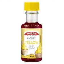 CLASSIC YELLOW FOOD COLOR, QUEEN, 50ML