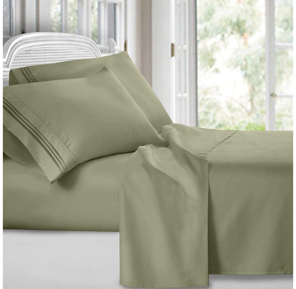 Luxury Sage Green Bed Sheet Set My Bedroom Collection