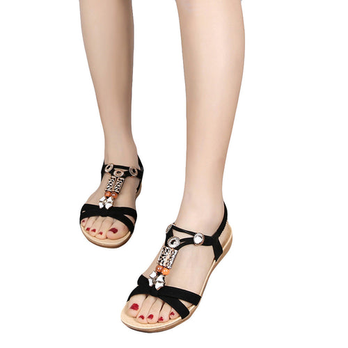 Women Sandals Elastic Strap Shoes